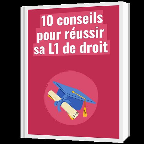 Ebook - 10 conseils pour réussir sa L1 droit