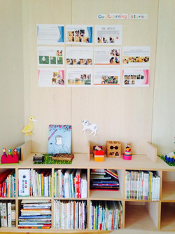 Book corner and learning stories