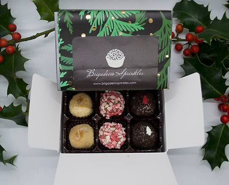 Holiday Box of 6 Brigadeiros