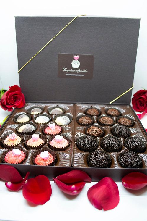 Valentine's Day Gift Box of 24 Brigadeiros