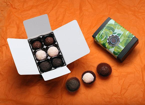 Classic Brigadeiro Box of 6 (Traditional, Noir, Coconut)
