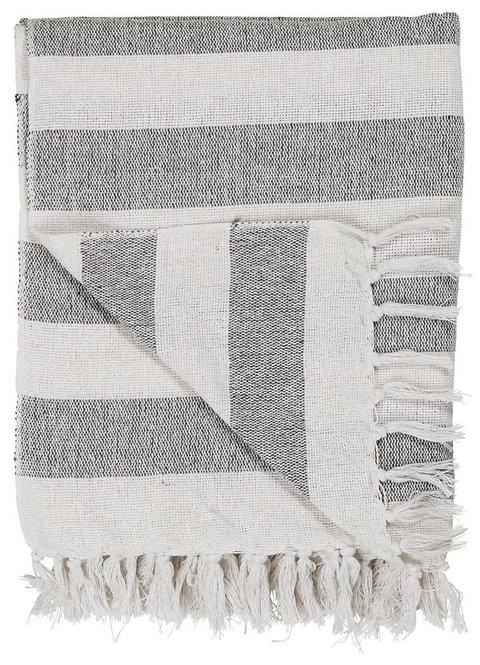 Decke mit schwarzen Streifen