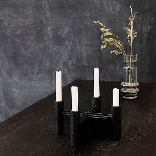 Kerzenhalter für den Advent - massic und schwer im Boho Stil
