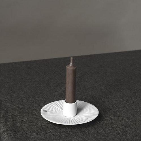 Kerzenleuchter Keramik, Kerzenteller, Holmby, weiss, klein