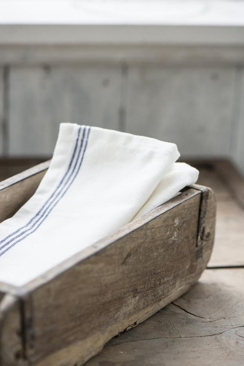 Geschirrhandtuch weiss mit blauen Streifen