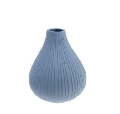 Keramikvase Ekenas blau klein