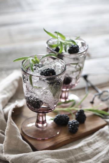 Weissweinglas, Kelchglas, Glas, rosa