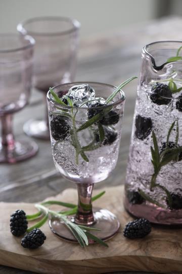 Rotweinglas, Kelchglas, Glas, rosa