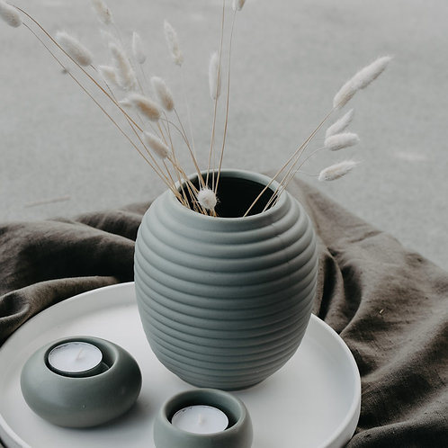 Vase, Keramikvase, Fornby, hellgrün
