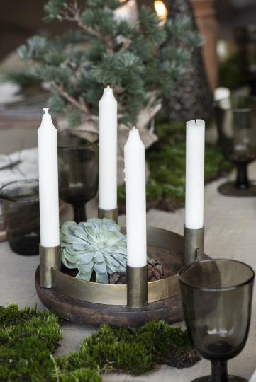 Adventskerzenhalter - Kerzenhalter für 4 Kerzen, verstellbar,messing