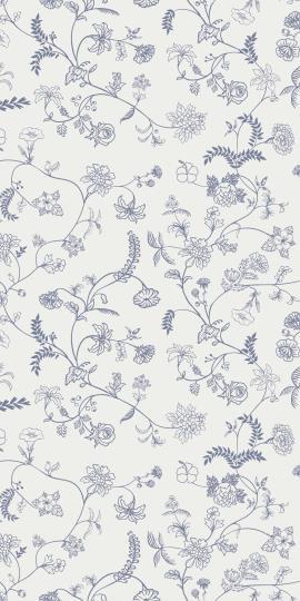 Servietten Set, blau Blooms, IBLaursen