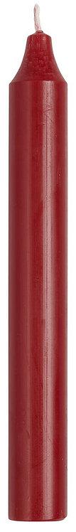 10er Set Kerzen, 11cm, rustikale Kerze, rot
