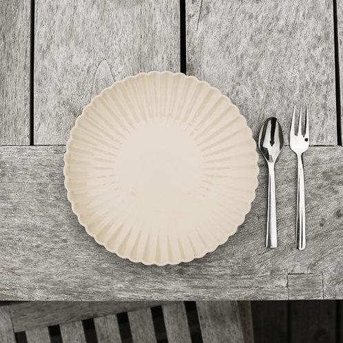 kleiner Teller, Dessertteller, Kuchenteller, Essteller Flora, beige - Steingut