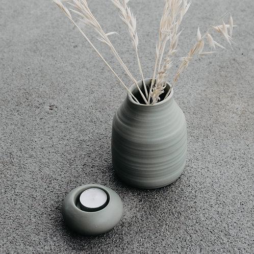 Vase, Keramikvase, Follingbo, hellgrün