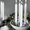 Thumbnail: Advents-Kerzenleuchter Granholmen-grau