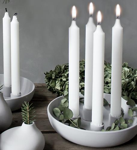 Advents-Kerzenleuchter Granholmen-grau