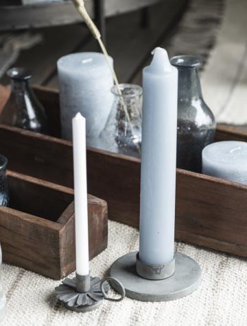 dicke Kerze, rustikale Kerze, Altarkerze hellblau