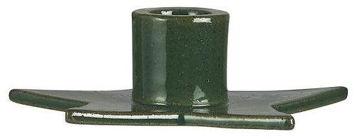 Kerzenhalter Stern, grün, Sternenform