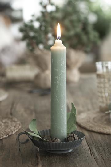 dicke Kerze, rustikale Kerze, Altarkerze grün