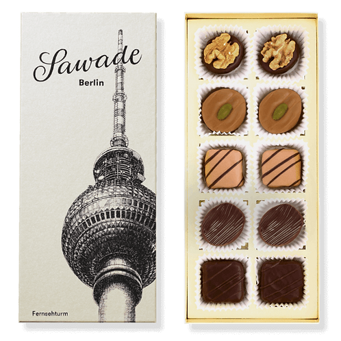 Berliner Fernsehturm: Sawade Pralinenmischung alkoholfrei