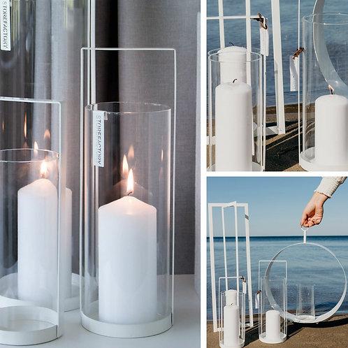 Windlicht Storefactory Kvarnvik, weiss, klein