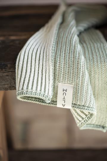 Waschlappen Altum aus Baumwolle, grün