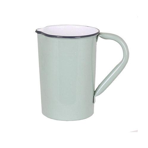 Krug, Kanne, Vase, Metall hell grün - Olle klein