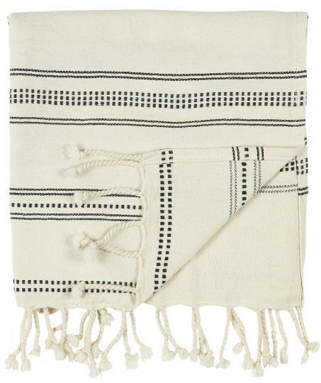 Hamam Handtuch mit schwarzem Muster