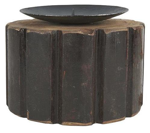 Kerzenleuchter aus massivem Vintageholz, klein
