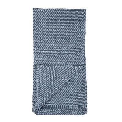 kleine blaue Decke aus Strick