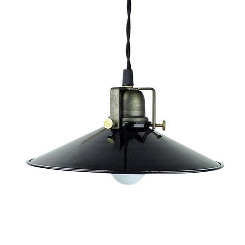 Deckenlampe Herbert, Vintage Lampe, Tellerlampe, Stalllampe, schwarz