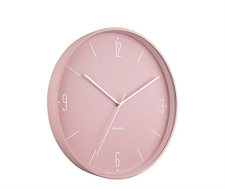 Wanduhr Number and Lines, rosa