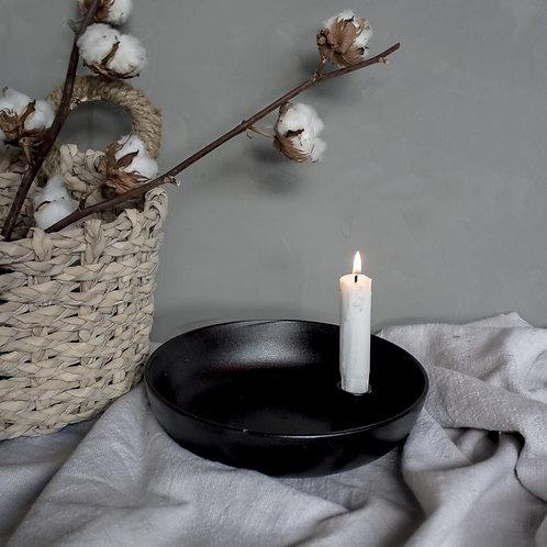 Lidatorp, schwarz, glänzend, groß, Kerzenhalter