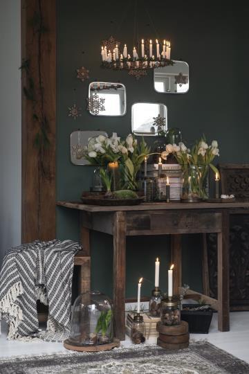 Tisch, Küchentisch mit Schublade aus Vintage Holz