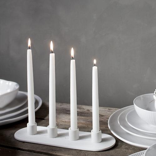 Kerzenleuchter Ekeryd - 4fach - Advent - weiss