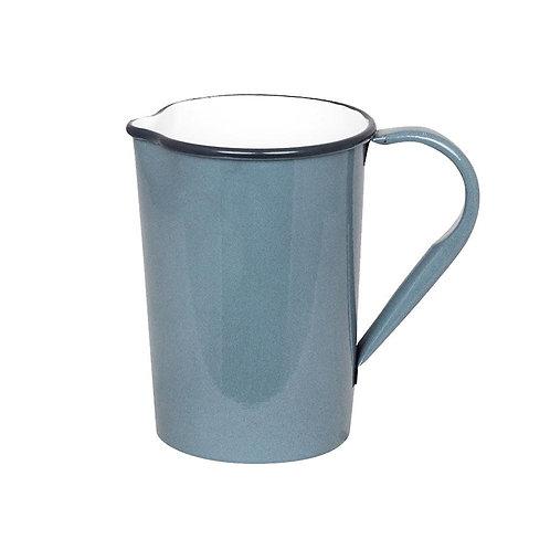 Krug, Kanne, Vase, Metall blau - Olle klein