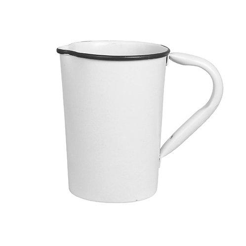 Krug, Kanne, Vase, Metall weiss - Olle klein