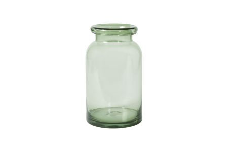 Vase aus grünem Glas