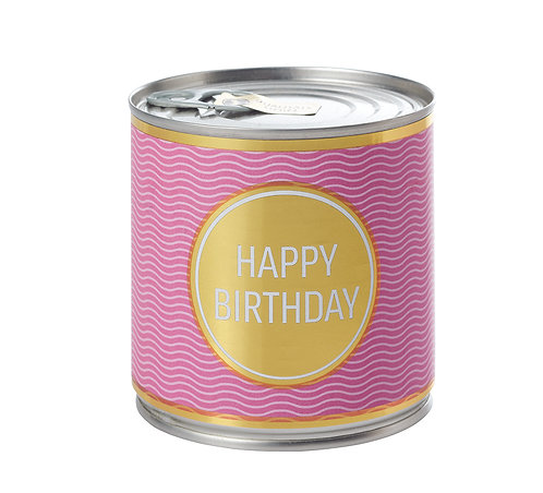 Schwarzwälder Kirschkuchen mit Kerze - luftdicht verpackt -Happy Birthday