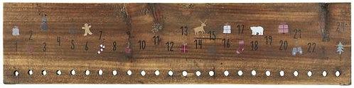 Holzschild Weihnachtskalender