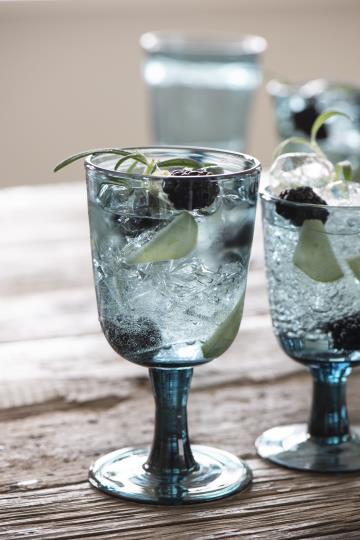 Rotweinglas, Kelchglas, Glas, blau