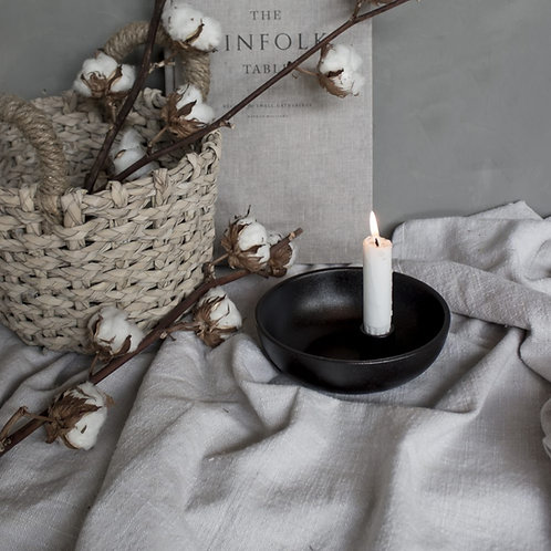 Kerzenleuchter Lidatorp schwarz klein, glänzend