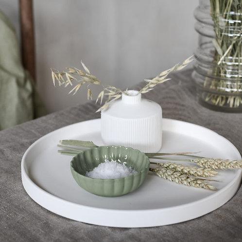 kleine Schale, Dessertschale, Esschale Flora, grün - Steingut