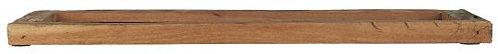 Tablett aus Vintage Holz mit kleiner Kante und Griff, klein