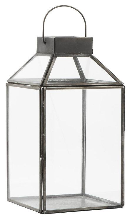 Kleine Laterne Norr, schwarz, Gartenlaterne, mit Glastop