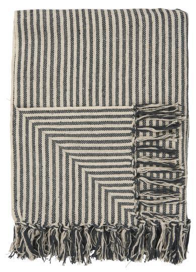 Decke schwarz / weisse Streifen