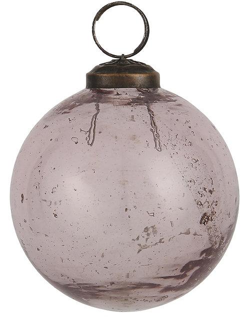 Christbaumkugel mit Einschlüssen, rosefarbenes Glas, gross