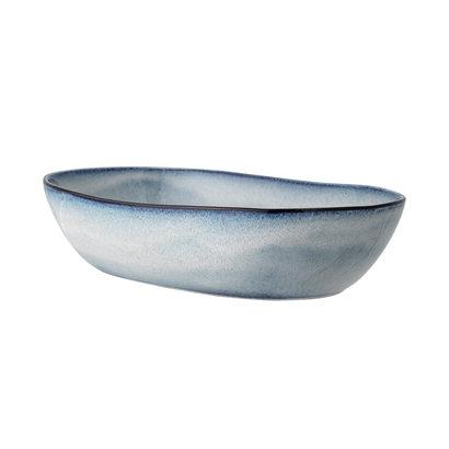 grosse, ovale Schale, Bloomingville Sandrine, blau