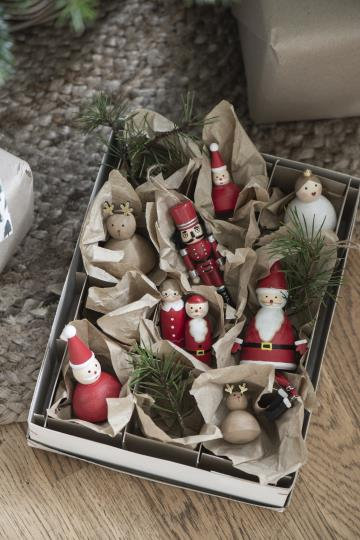 Nussknacker aus Holz, handbemalt, als Weihnachtsdekoration
