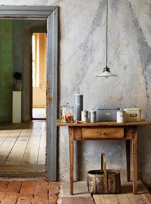 Deckenlampe, Vintage Lampe, Stalllampe Herbert, weiss